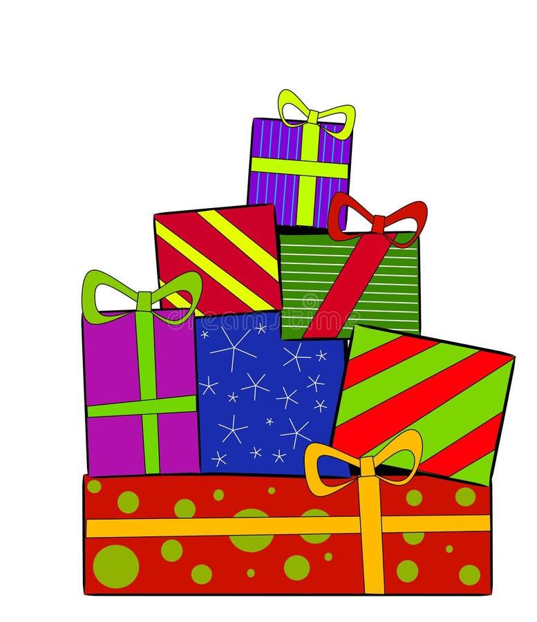 Présents de cadeaux de Noël illustration libre de droits