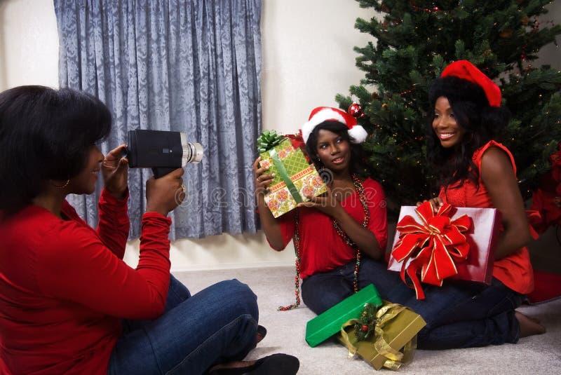 Présents de matin de Noël photographie stock libre de droits