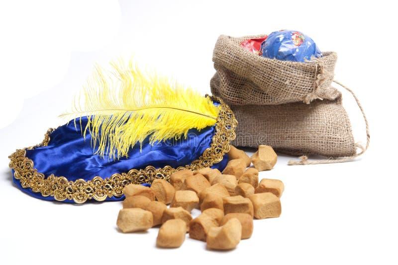 Présents et bonbons de Sinterklaas photo libre de droits