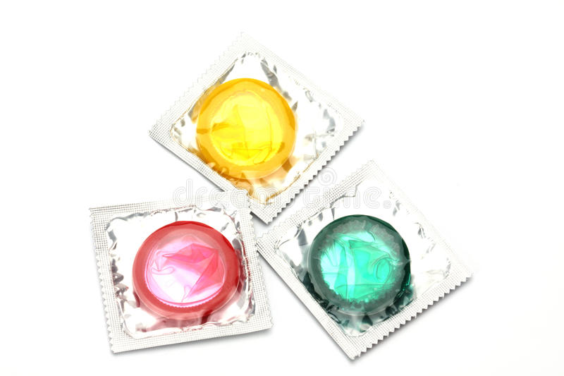 Préservatifs colorés photo libre de droits