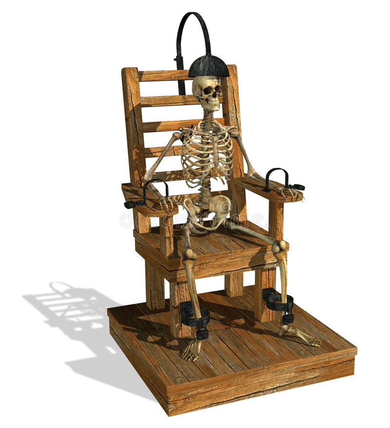 Présidence électrique avec le squelette illustration de vecteur