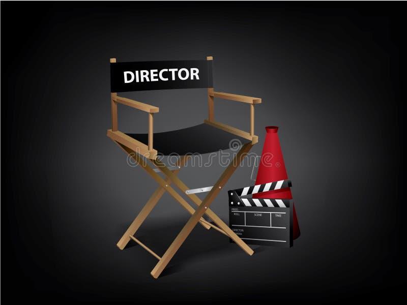 Présidence de directeur de film illustration libre de droits