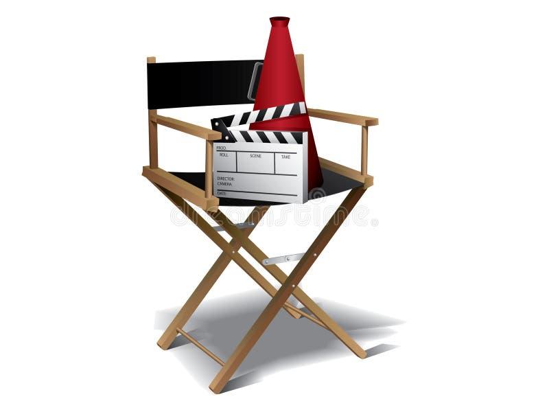 Présidence de directeur de film illustration stock