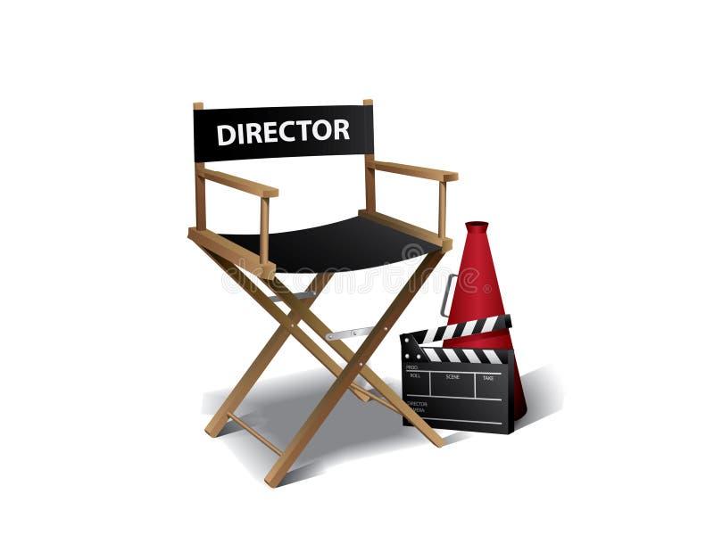 Présidence de directeur de film illustration de vecteur
