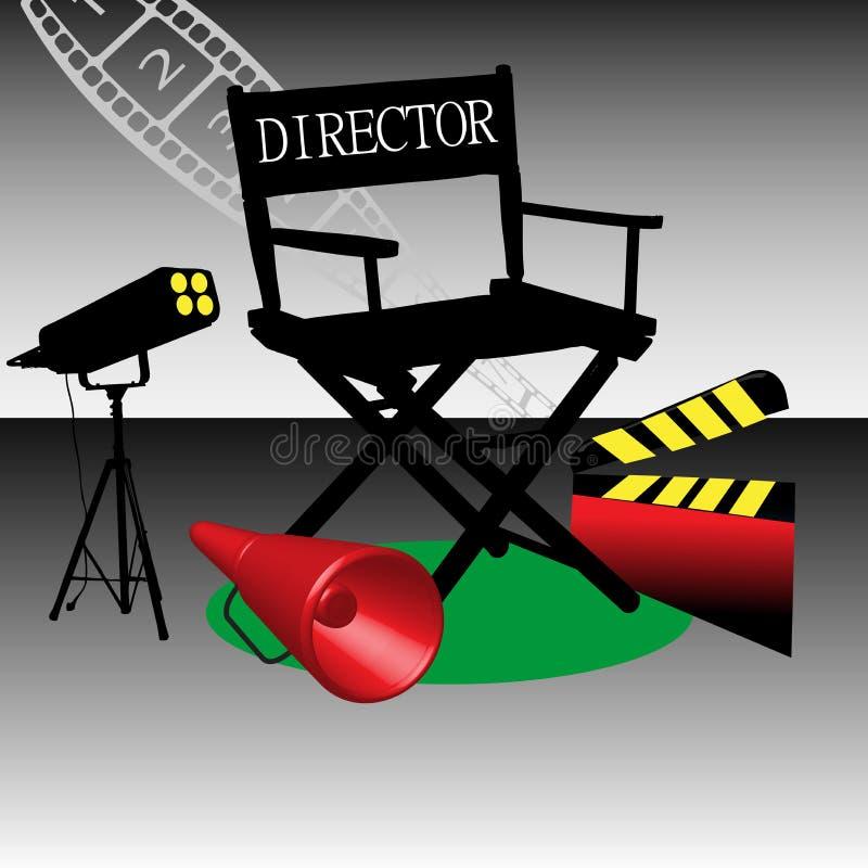 Présidence de générateur de film illustration stock