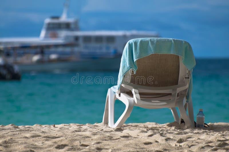 Présidence de paquet à une plage photo libre de droits