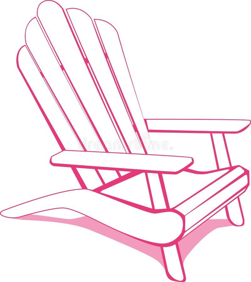 Présidence de plage rose illustration stock