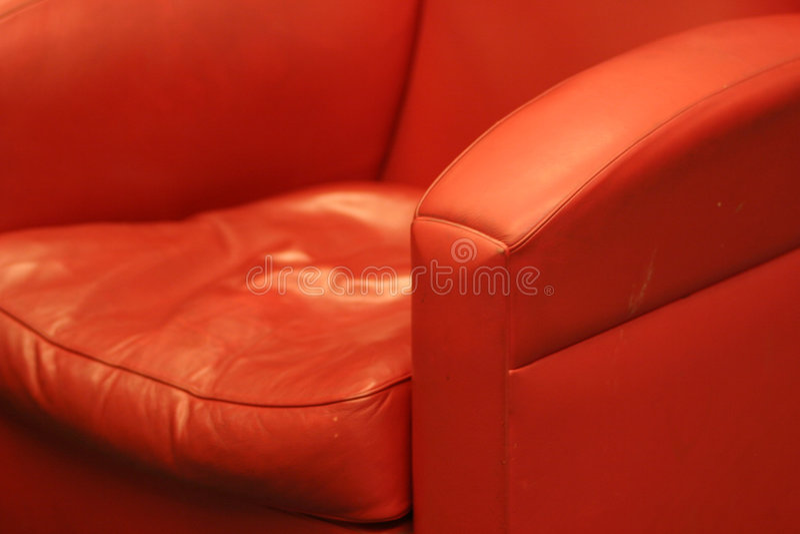 Présidence en cuir confortable rouge images libres de droits