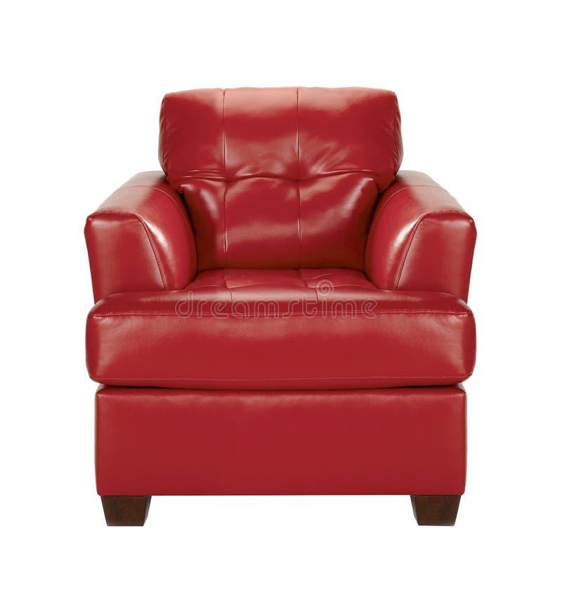 Présidence en cuir rouge images stock