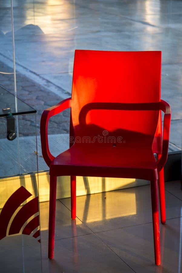 Présidence en plastique rouge photo libre de droits