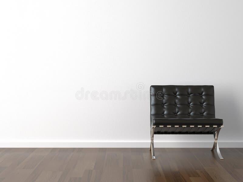 Présidence noire sur le mur blanc photo stock