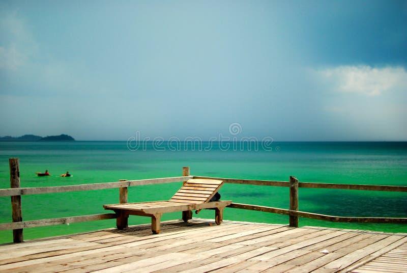 Présidence paresseuse de plage photographie stock