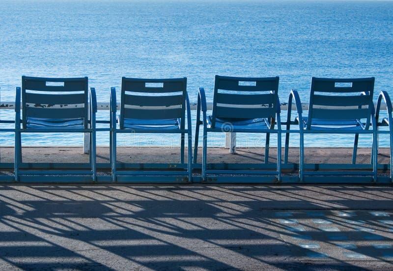 Présidences bleues dans Nice - la France - Cote d'Azur photographie stock