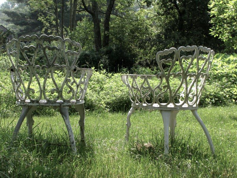 Présidences de pelouse de cru photo stock