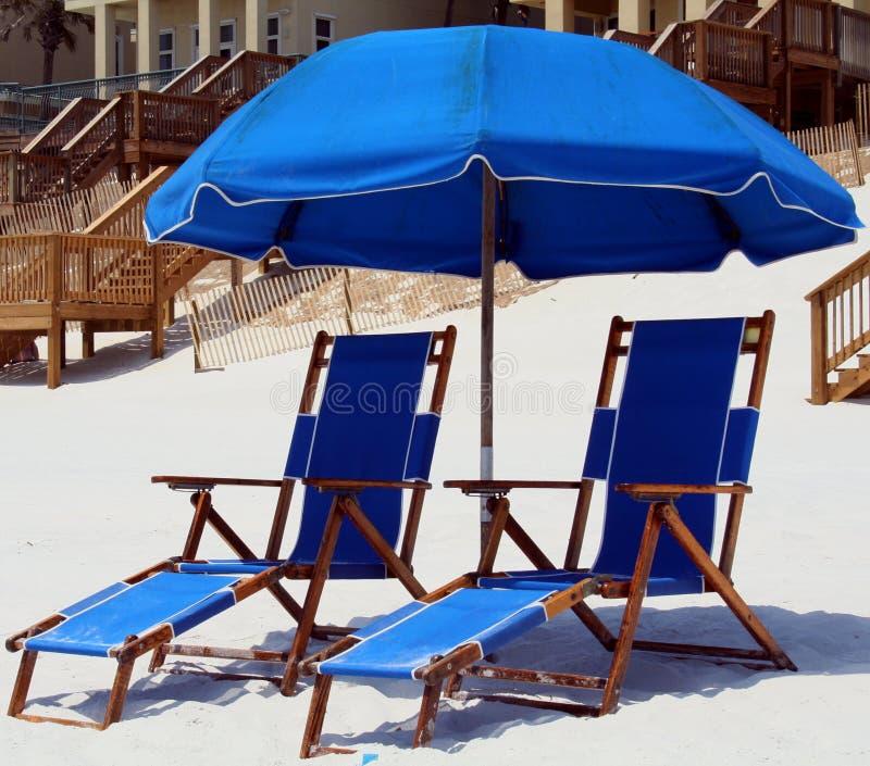 Présidences de plage photographie stock