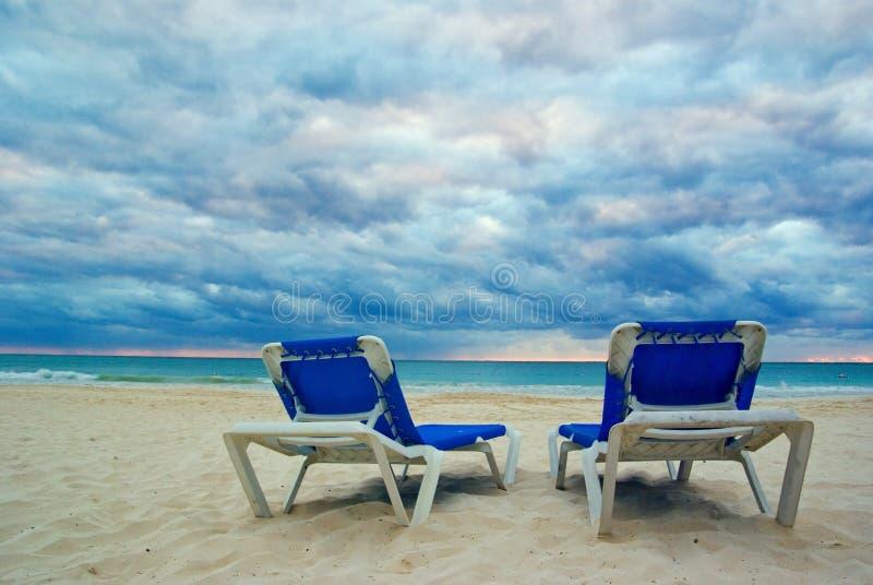 Présidences de plage photographie stock libre de droits