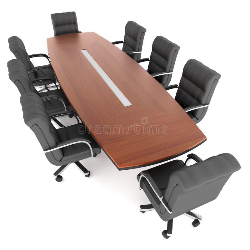 Présidences de table et de bureau de conférence illustration de vecteur