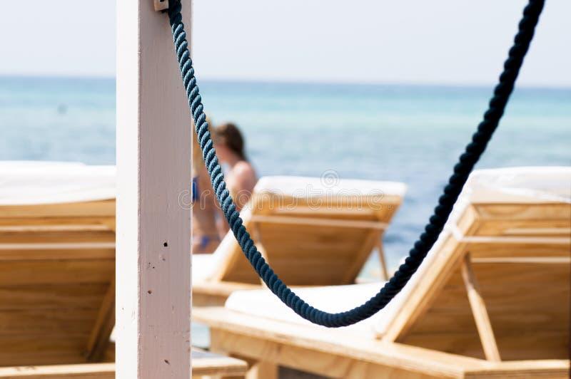 Présidences sur la plage photographie stock libre de droits