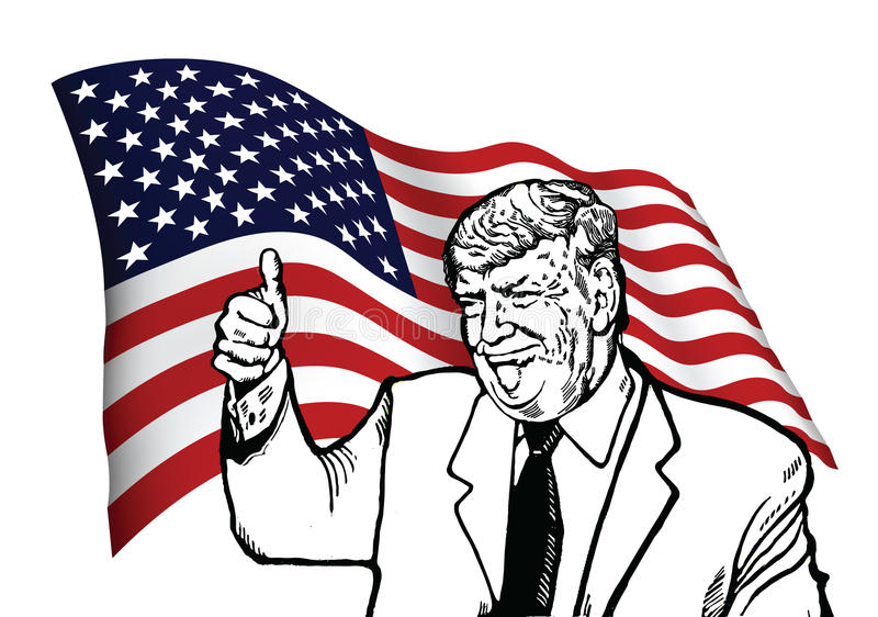 Président désigné Donald Trump illustration de vecteur