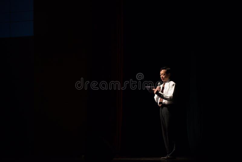 Président d'école - hôte photos stock