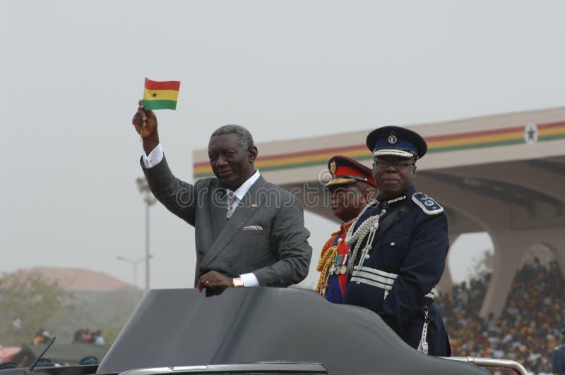 président de kufuor du Ghana John photo libre de droits