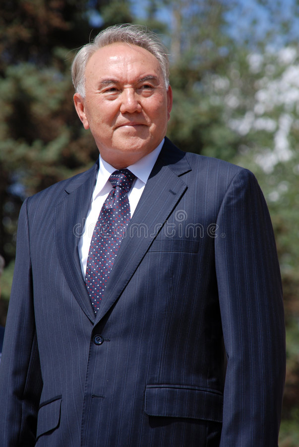 Président de la République Kazakhstan Nazarbaev photographie stock libre de droits