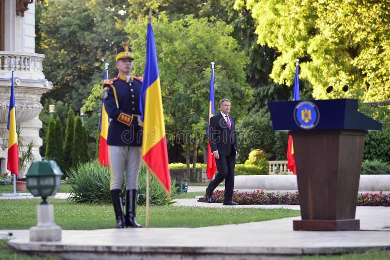 Président de la Roumanie Klaus Iohannis image libre de droits