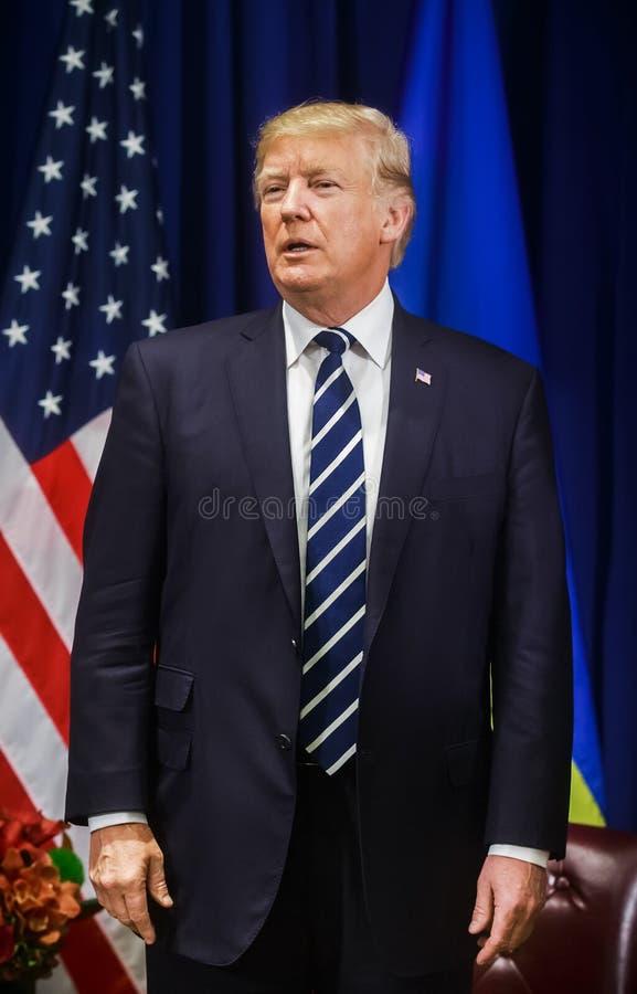 Président des États-Unis Donald Trump image libre de droits