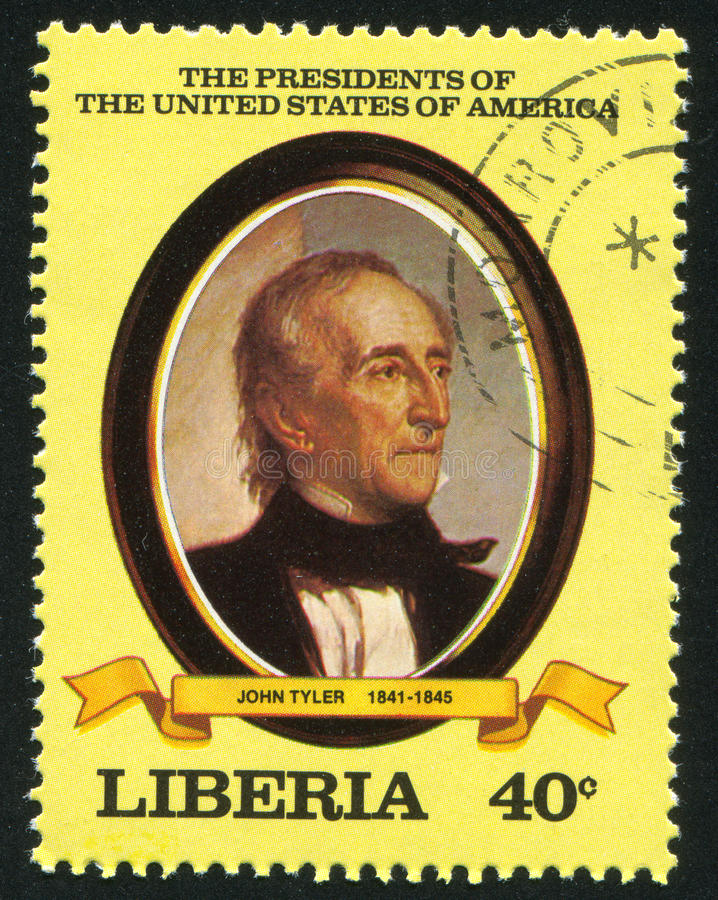 Président des États-Unis John Tyler photographie stock