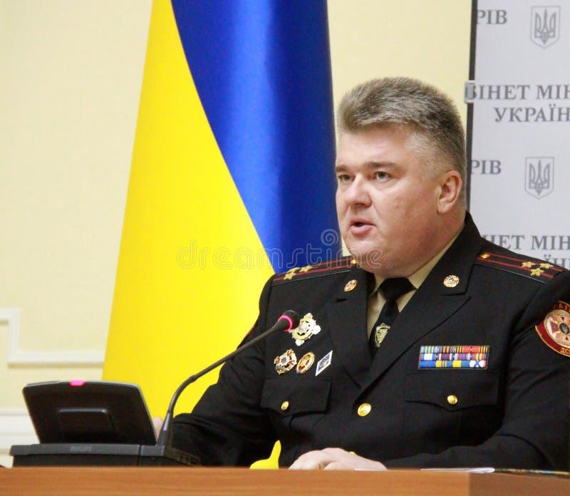 Président du service des urgences d'état de l'Ukraine images stock