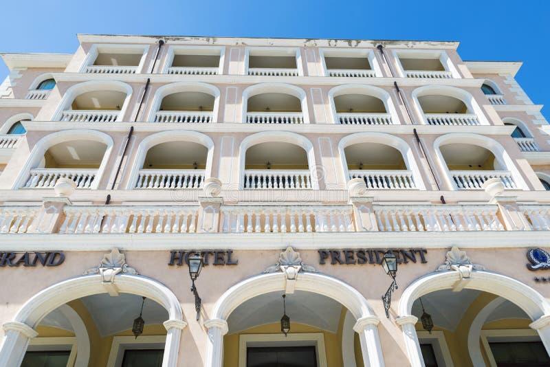 Président grand d'hôtel dans Olbia, Sardaigne, Italie photographie stock libre de droits