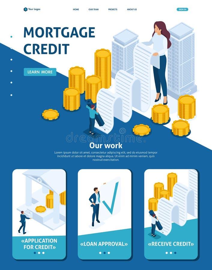 Préstamo de hipoteca isométrico del registro libre illustration