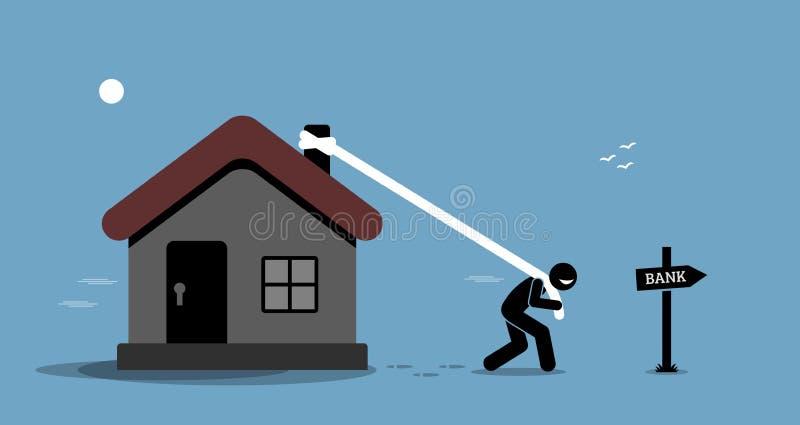 Préstamo de la refinanciación de la hipoteca libre illustration