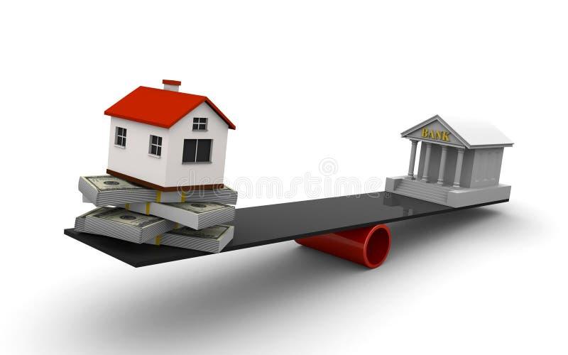 Préstamo de propiedades inmobiliarias stock de ilustración