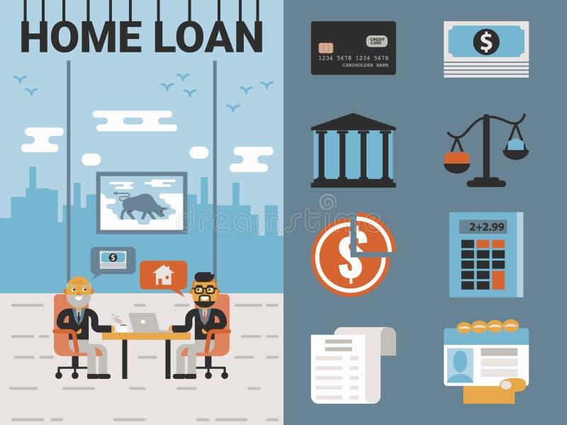 Préstamo hipotecario stock de ilustración