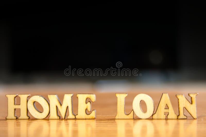 Préstamo hipotecario de la palabra imagen de archivo libre de regalías