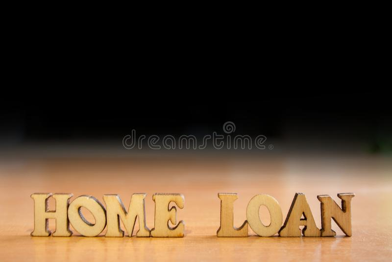 Préstamo hipotecario de la palabra imagenes de archivo