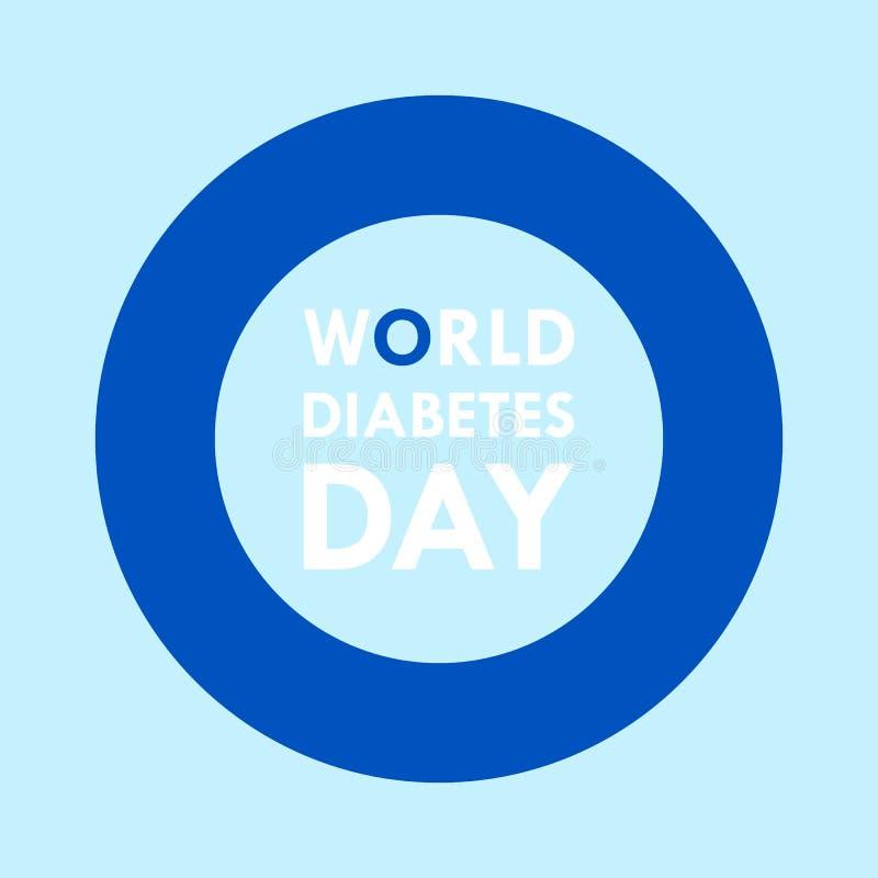 Prévention d'illustration de conception du jour 2016 de diabète du monde pour l'avenir photos libres de droits