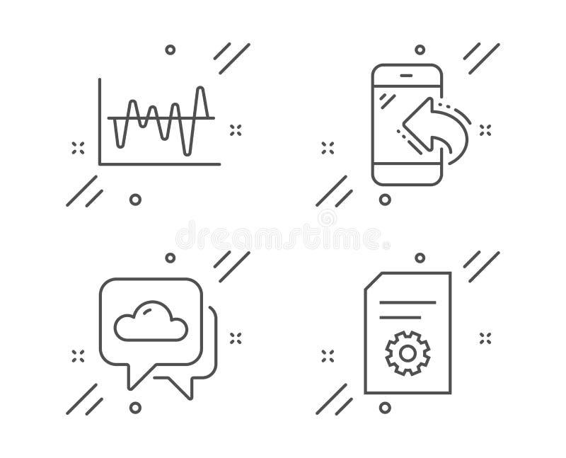 Prévisions météorologiques, appel d'arrivée et ensemble d'icônes d'analyse boursière Signe d'arrangements de dossier Vecteur illustration libre de droits