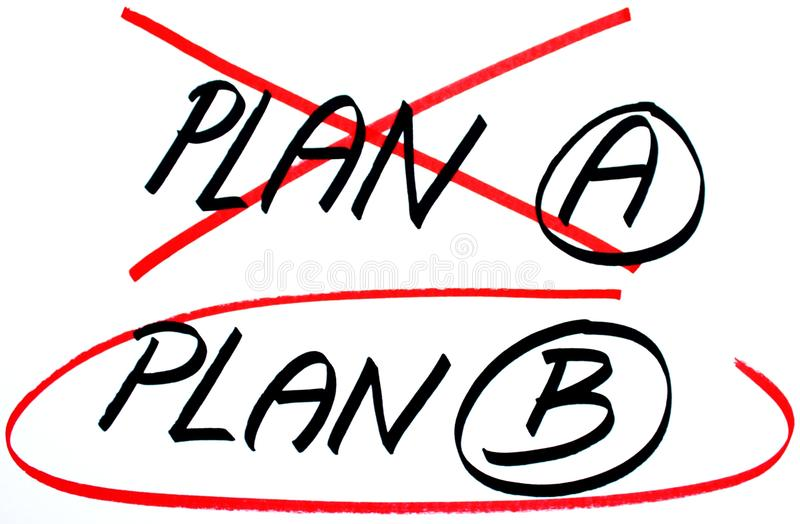 Prévoyez les options du plan un B illustration stock