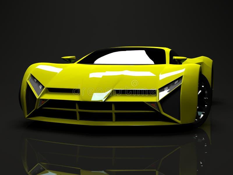 Prêmio brilhante grande do carro de esportes Projeto conceptual A ilustração royalty free