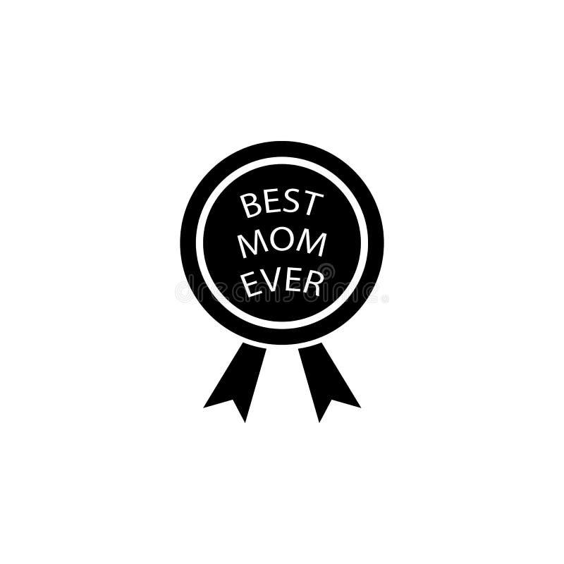 prêmio do melhor ícone da mãe Elemento do dia da mãe para apps móveis do conceito e da Web O prêmio detalhado do melhor ícone da  ilustração stock