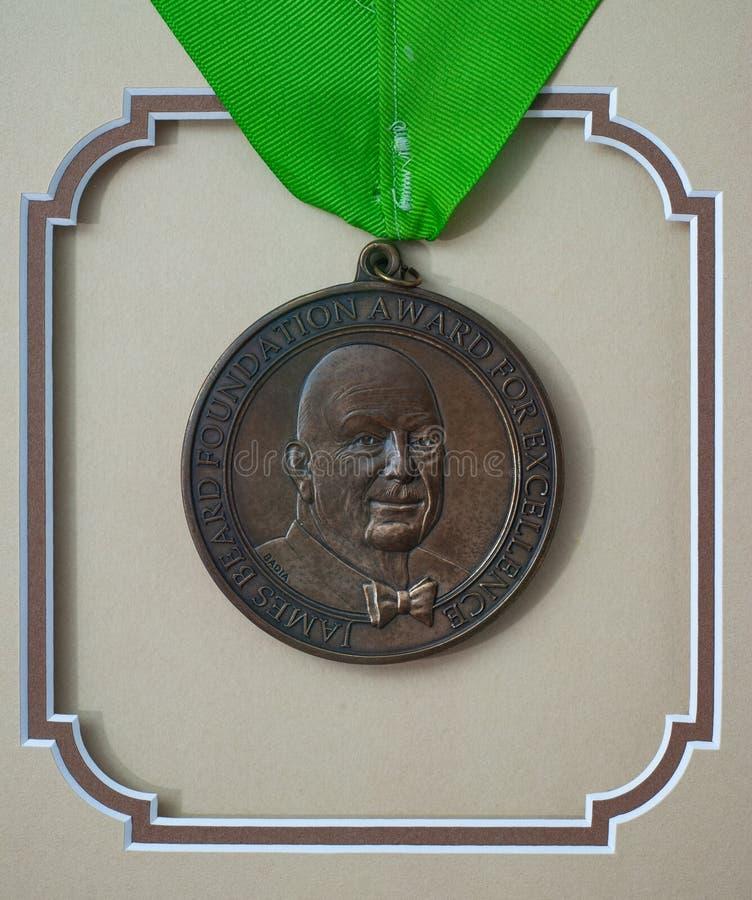 Prêmio Fundação James Beard por Excelência fotografia de stock royalty free