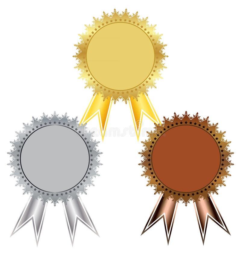 Prêmio um jogo das medalhas ilustração do vetor