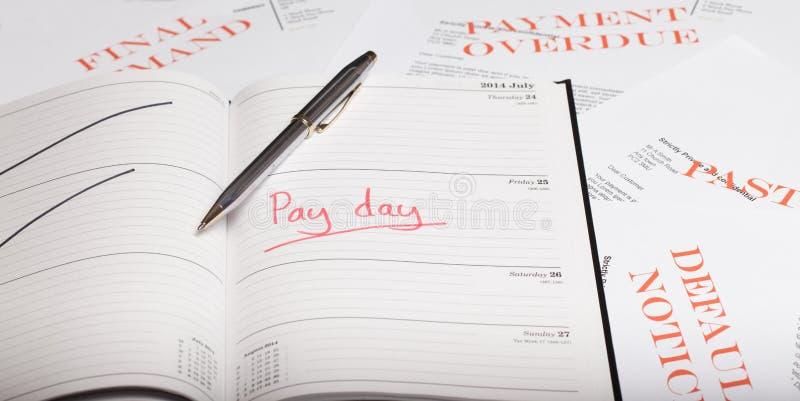 Prêt de jour de salaire photos stock