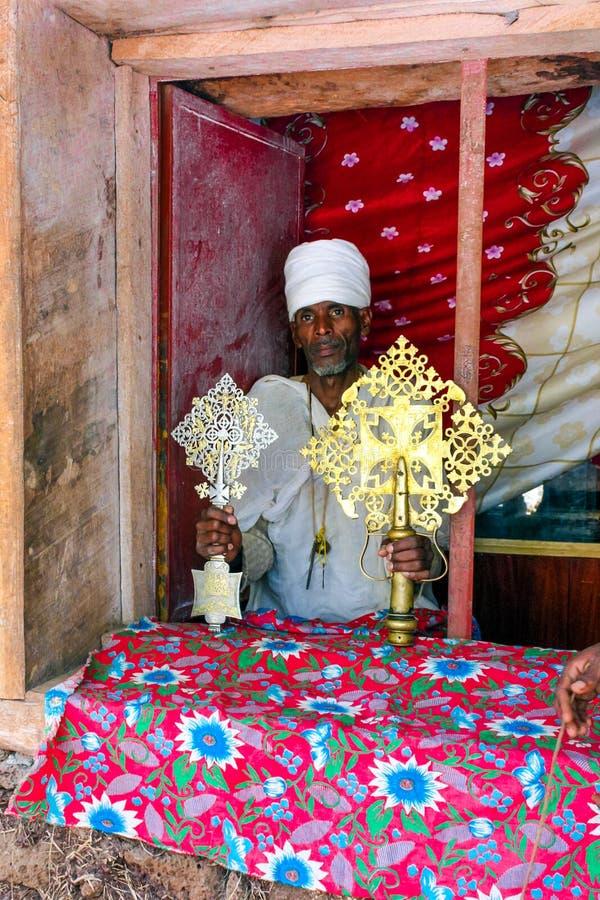 Prêtre éthiopien photos stock