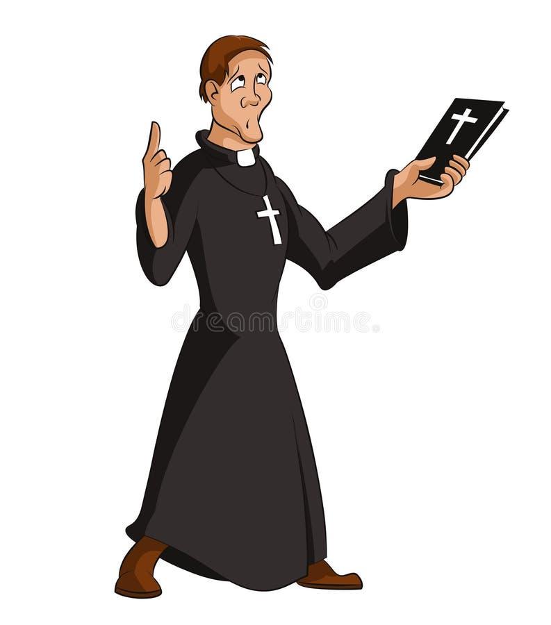 Prêtre illustration de vecteur