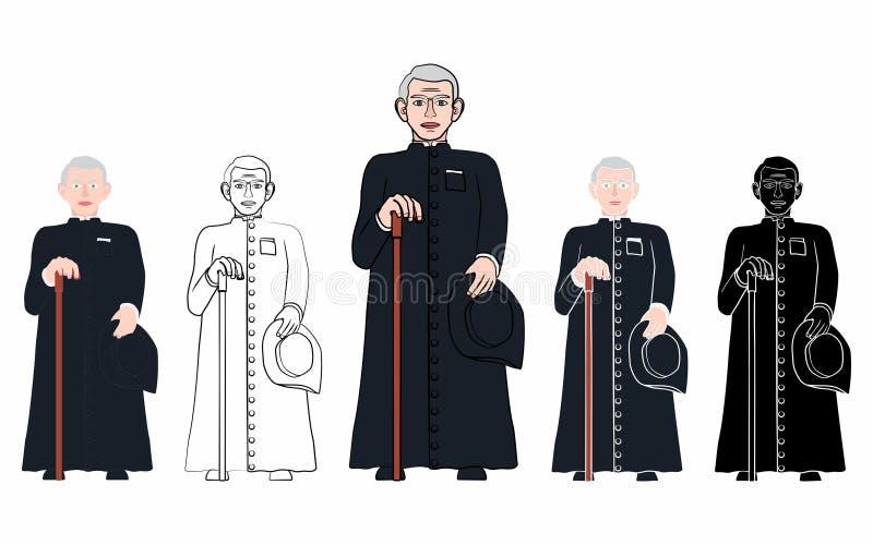 Prêtre catholique brésilien Cicero illustration stock