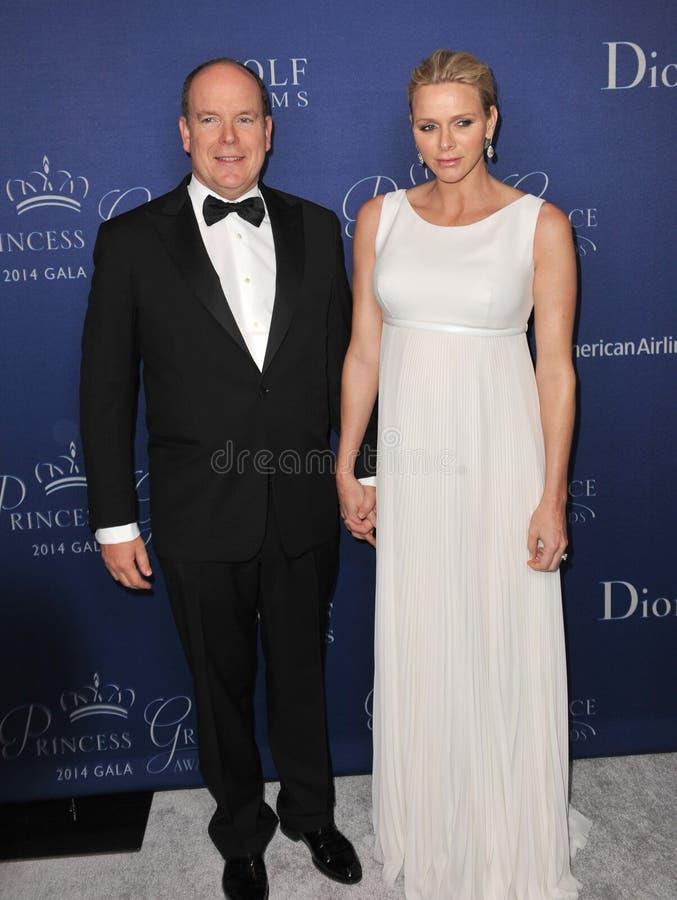 Príncipe Albert II de Mônaco & da princesa Charlene de Mônaco fotografia de stock