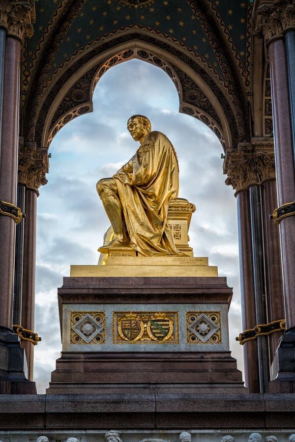 Príncipe Albert Memorial, Kensington, Londres fotos de stock
